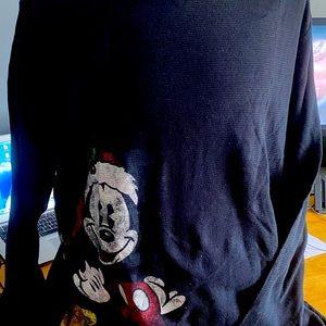 Men's long sleeved Mickey Christmas underwearshirt